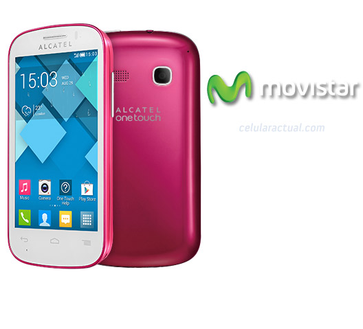 Alcatel One Touch Pop C3 en México con Movistar color rosa