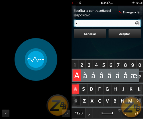 BlackBerry 10.3 Asistente de voz