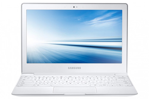 Samsung Chromebook 2 color blanco pantalla y teclado