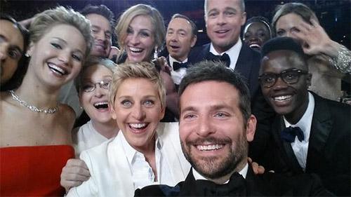 Selfie de Ellen DeGeneres con Meryl Streep, Jennifer Lawrence y Bradley Cooper
