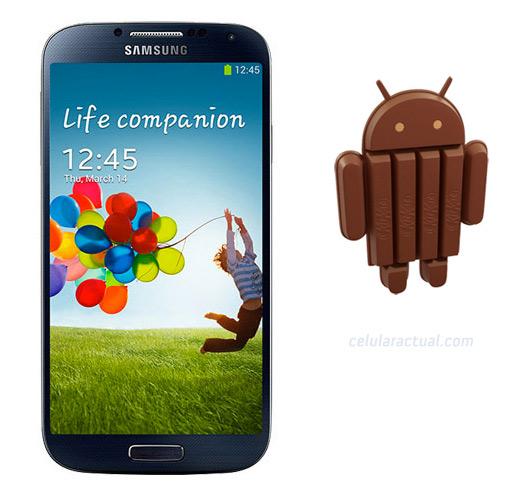 El Samsung Galaxy S4 conAndroid 4.4 KitKat