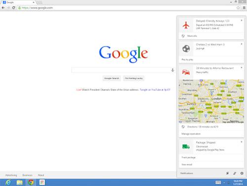 Google Now en tu computadora con Chrome
