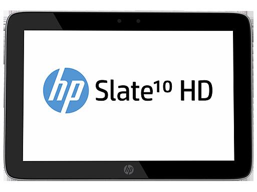 HP Slate 10 HD tablet en México pantalla de frente