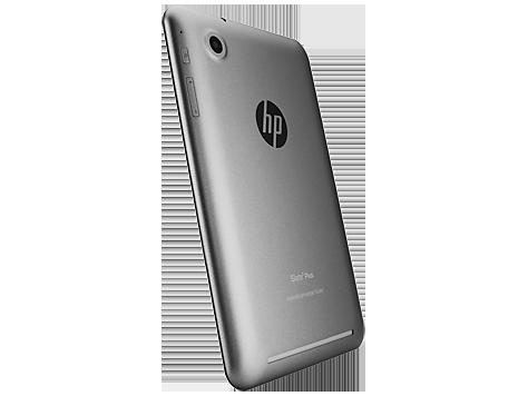 HP Slate 7 Plus en México cámara trasera de lado logo