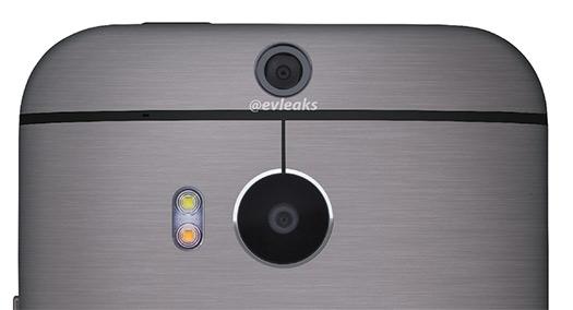 All New HTC One (M8) muestra Cámara Dual y Flash bitono