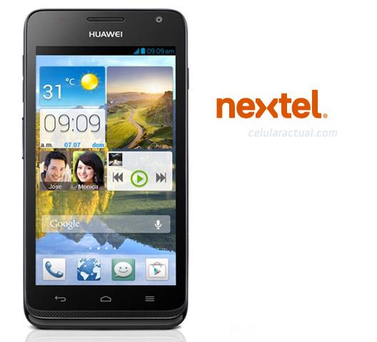 Huawei Link en México con Nextel logo