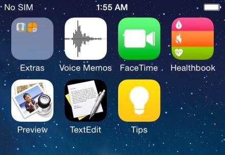 iOS 8 de Apple nuevas Apps detalle
