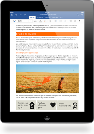 iPad con Office Word