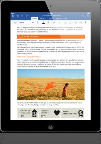 iPad con Office Word