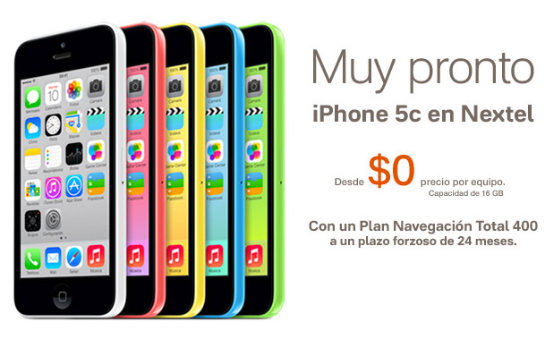 iPhone 5c en Nextel México