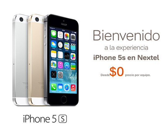 Apple iPhone 5s en Nextel México planes de renta