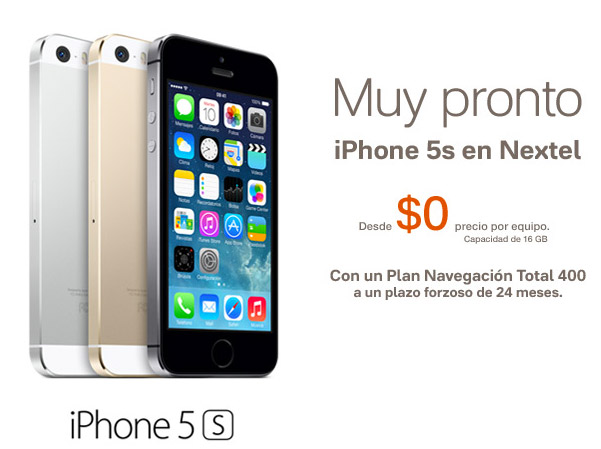 iPhone 5s en Nextel México