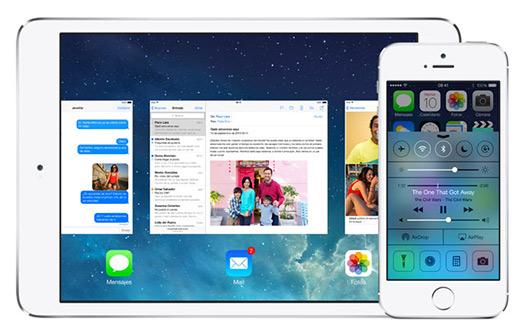 Apple iOS 7.1 en iPad y iPhone