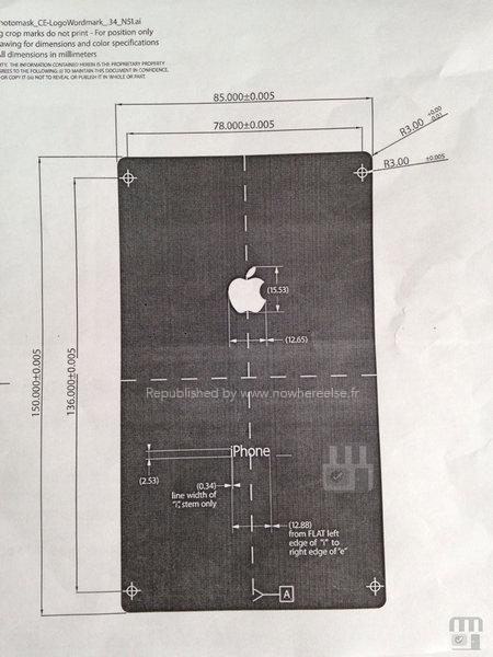 iPhone 6 en diagrama versión phablet
