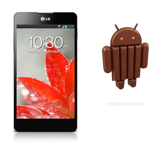 LG Optimus G con Android 4.4 KitKat en verano