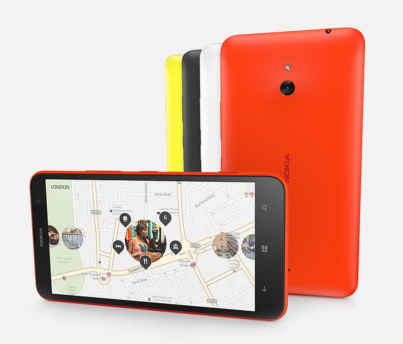Nokia Lumia 1320 phablet pantalla HERE Mapas