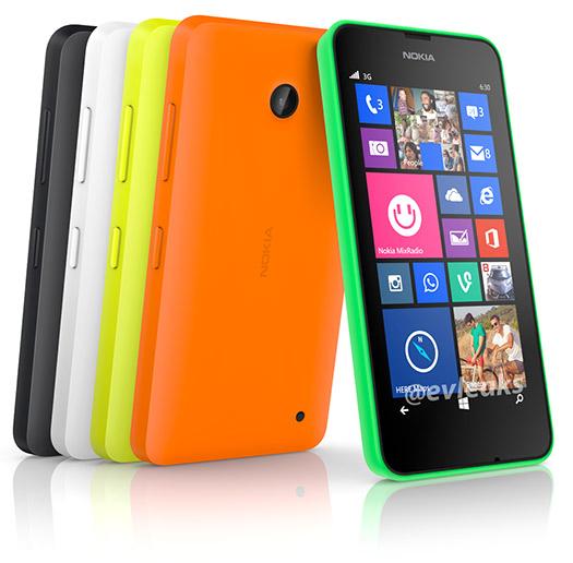 Nokia Lumia 630 oficial de prensa colores