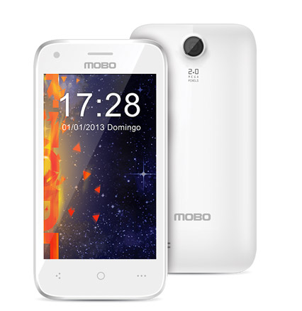 Mobo FreeSpeed 3G Android Jelly Bean Dual-SIM Libre en México color blanco