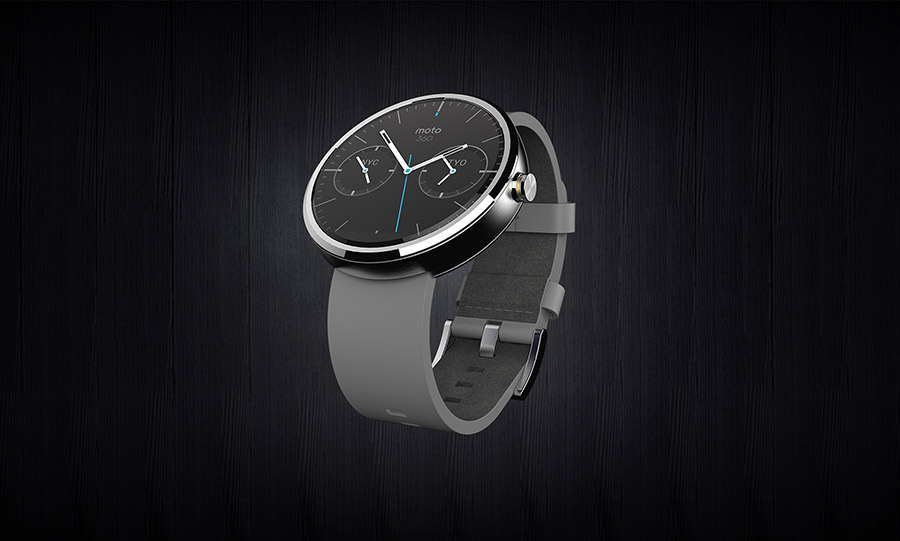Motorola Moto 360 color gris extensible