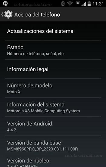Moto X desbloqueado recibe Android 4.4 KitKat en México Acerca del teléfono
