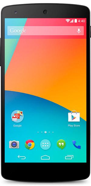 LG Nexus 5 color Negro