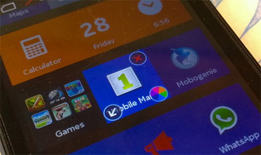Nokia X cambio de color de fondo en Tiles de apps