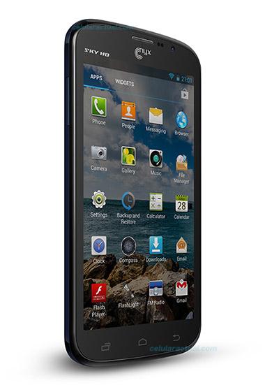 Nyx SKY HD phablet en México con Telcel color negro de lado pantalla