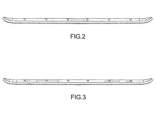 Samsung patente de tablet curva orillas de lado