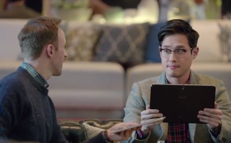 Video Samsung Galaxy Tab Pro Series frente a iPad
