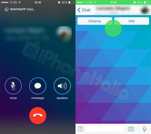 Pantallas WhatsApp iOS,  llamadas VoIP gratis
