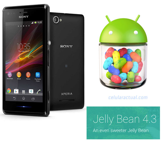 Sony Xperia M Android 4.3 Jelly Bean logo