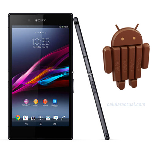 Xperia Z Ultra con Android 4.4 KitKat