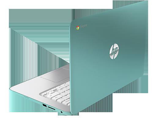 HP Chromebook 14 en México parte trasera de lado