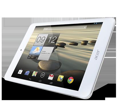 Acer Iconia One 7  pantalla horizontal de lado