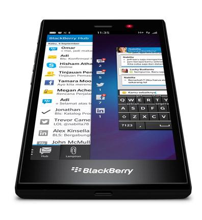 BlackBerry Z3 oficial pantalla