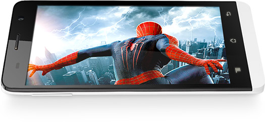 Blu Studio 5.0 LTE color blanco pantalla Video Spiderman 2