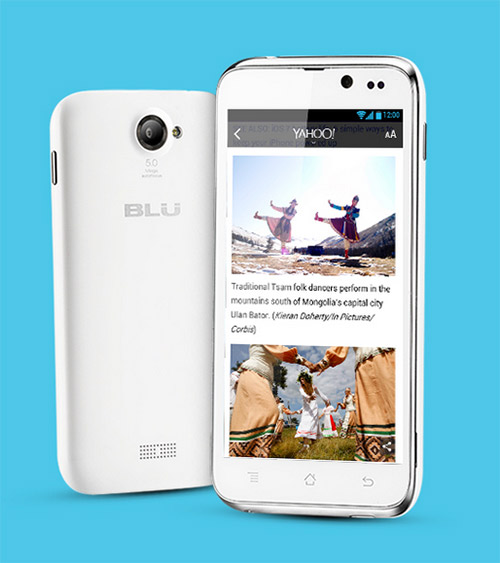 Blu Advance 4.5 en México color blanco