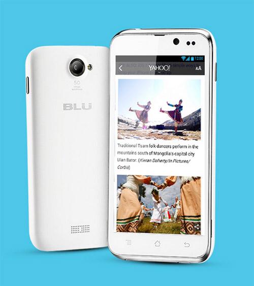 Blu Advance 4.5 en México color blanco