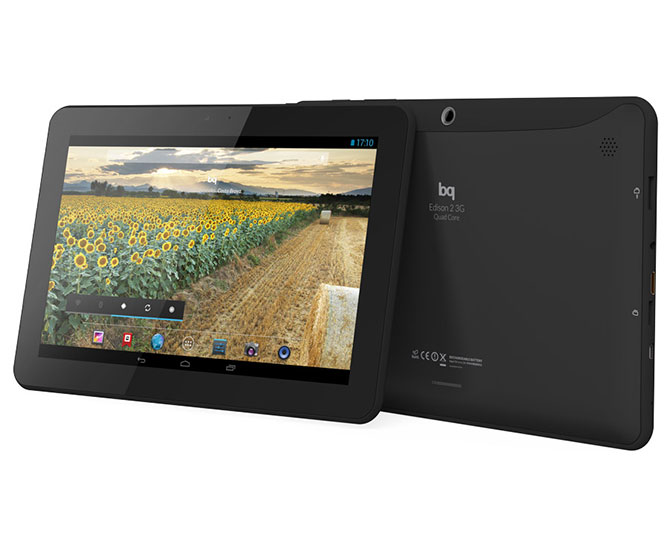 BQ Edison 2 Quad Core tablet en México de lado 2