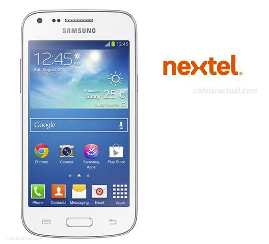 Samsung Samsung Galaxy Core Plus en México con Nextel logo
