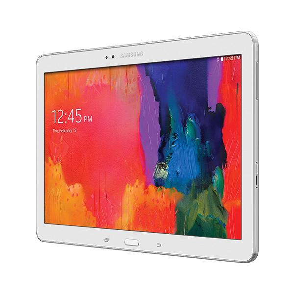 Samsung Galaxy Tab Pro 10.1 en México de lado pantalla 2