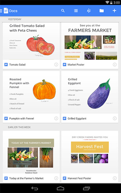 Google Docs App Android