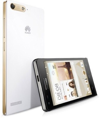 Huawei Ascend P7 mini color blanco dorado y negro plateado