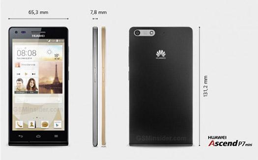 Huawei Ascend P7 mini dimensiones
