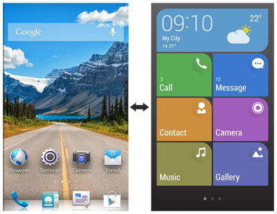 Huawei Ascend Y530 interfaz Dual Android - Simple UI