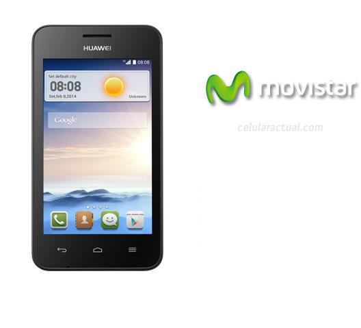 Huawei Ascend Y330 en México con Movistar  logos