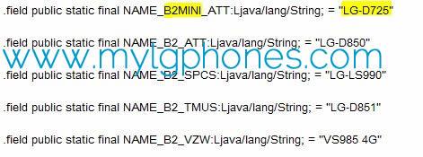 El LG G3 mini documento filtrado