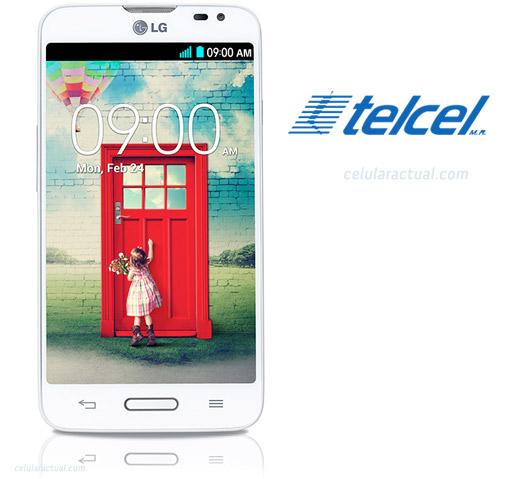 LG L70 D320 en México con Telcel logotipos