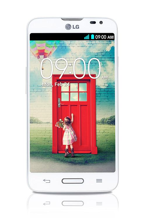 LG L70 D320 en México con Telcel pantalla IPS de frente