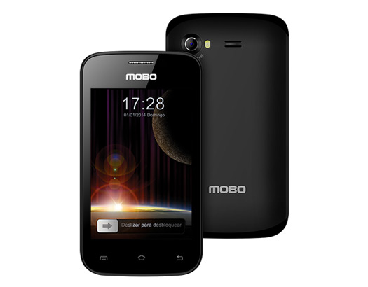 "Mobo Venus color negro pantalla Touch 4"""